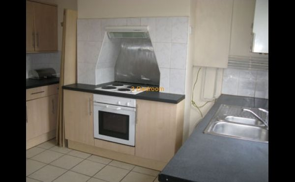 Kitchen with built in cooker hob and oven